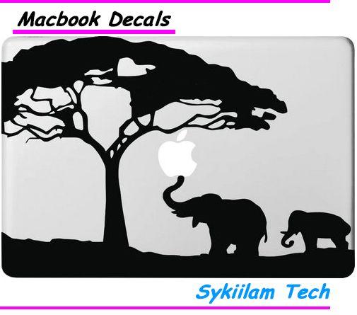 Мама и Ребенок Слон под Деревом для Apple Логотип Винил Наклейки для Macbook Кожи Air 11 13 Pro 13 15 17 Retina Ноутбука наклейка