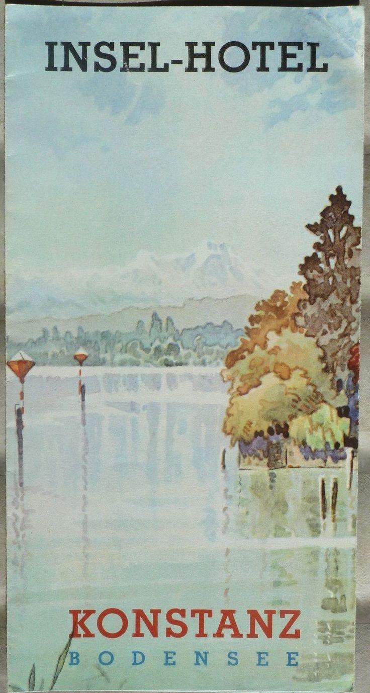 1940's Konstanz Bodensee Insel Hotel Vintage Brochure Lake Constance Germany B | eBay