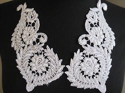 White lace appliqueVenise lace applique lace by Threads2Trends, $3.20