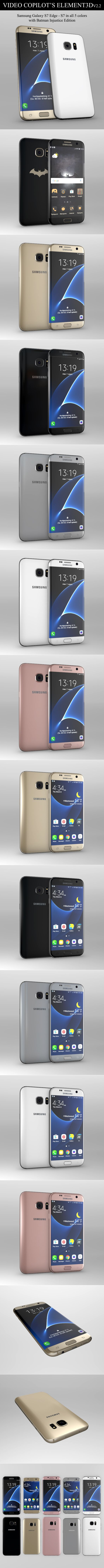 Element3D - Samsung Galaxy S7 & S7 Edge - 3DOcean Item for Sale