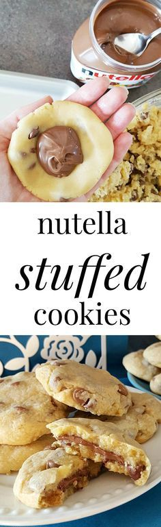 Rich and creamy Nutella meets up with a soft chocolate chip cookie to bring an explosion of chocolatey goodness in your mouth! These Nutella stuffed cookies are completely irresistible.