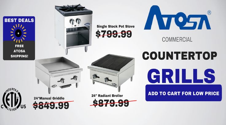 New Atosa Restaurant Equipment! On SALE NOW!