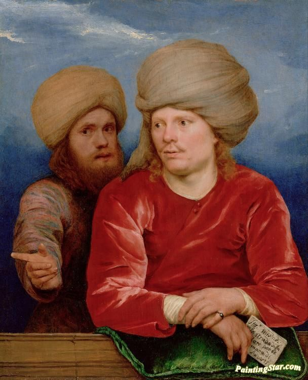 Double portrait Artwork by Michael Sweerts Hand-painted and Art Prints on canvas for sale,you can custom the size and frame