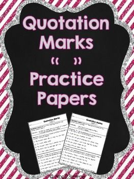 Do your students need practice learning how to add quotation marks in ...