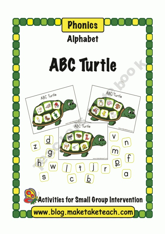 Quiet Book Turtle And Frog on Squirrels Preschool And Kindergarten Activities Lessons