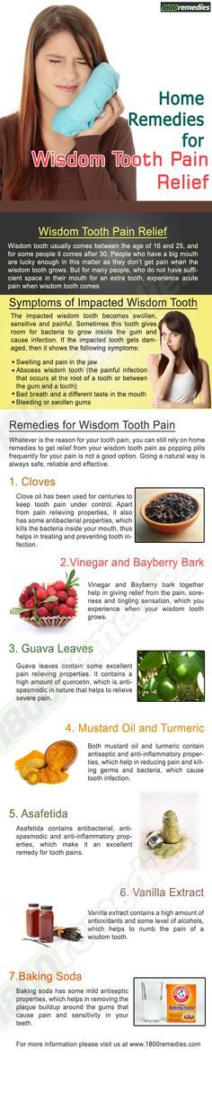 Remedies for wisdom tooth pain