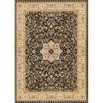 Ushak Sophia Black 7 ft. 10 in. x 9 ft. 10 in. Traditional Area Rug