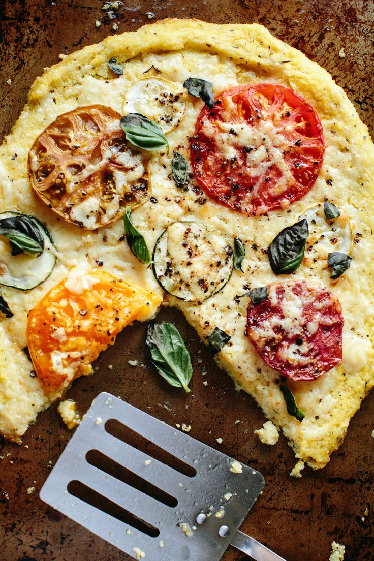 Polenta Pizza with Heirloom Tomatoes and Summer Squash ...
