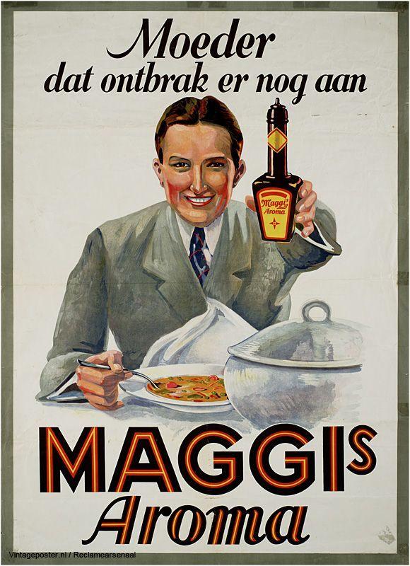 Reclame posters | 1925-1935 | Moeder dat ontbrak er nog aan. Maggi's Aroma
