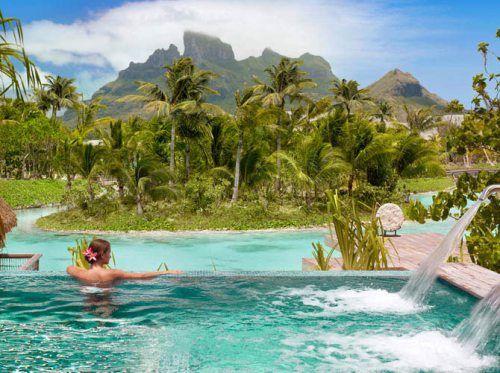The Four Seasons in Bora Bora looks more like a dream than a hotel.