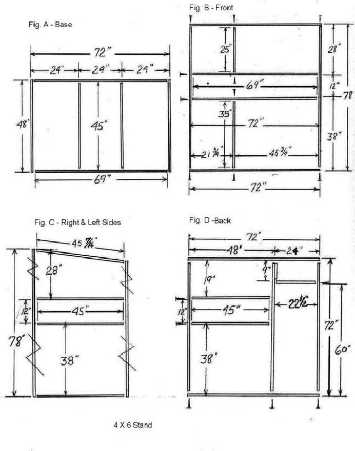 Trophy deer stand plans 4x6 pinteres for Bow house plans