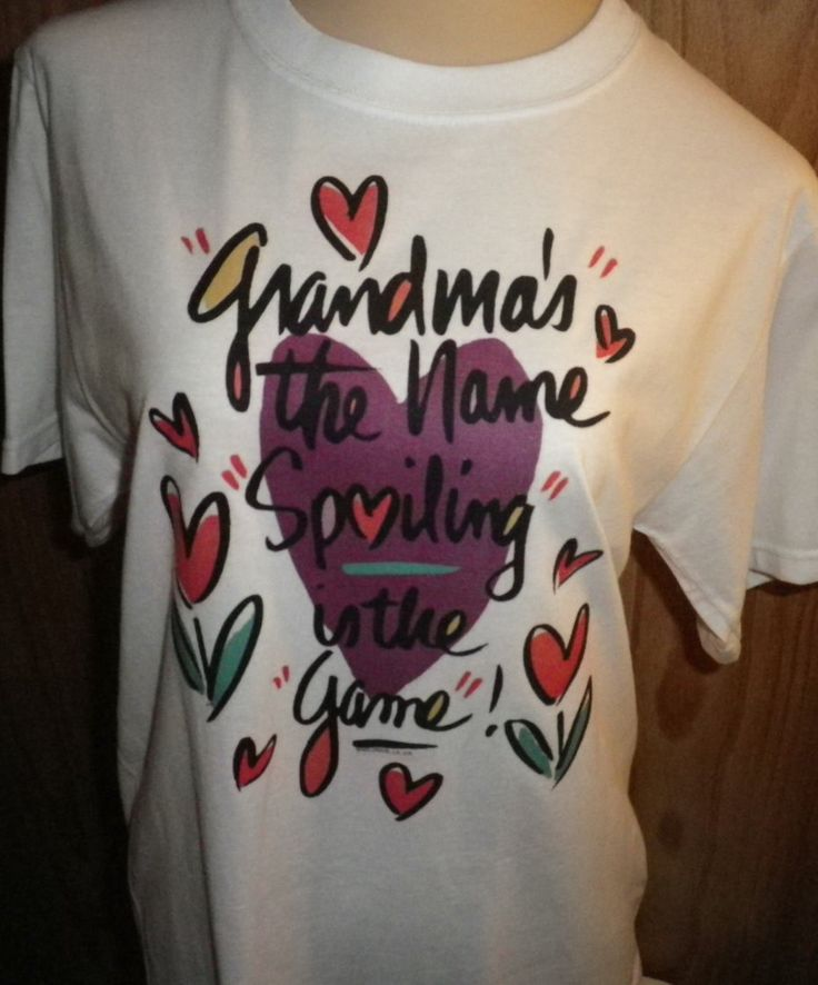 Grandma's the Name Spoiling is the game T-Shirt, Graphic Tee, Pre-made T-Shirts, Custom Print Shirts, Size Small by NAESBARGAINBASEMENT on Etsy