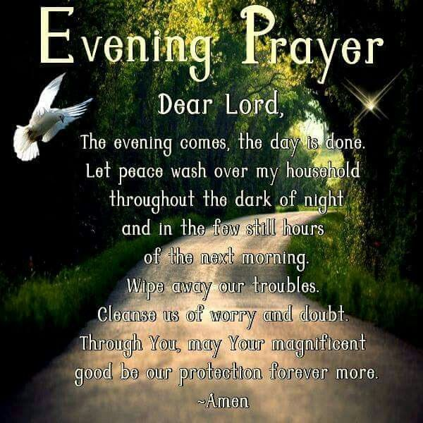 Evening Prayer Faith Night Prayer Nighttime Prayer