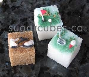 Golf sugar cubes