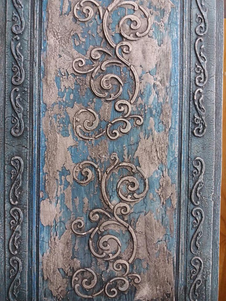 Crackle#stencil#plaster
