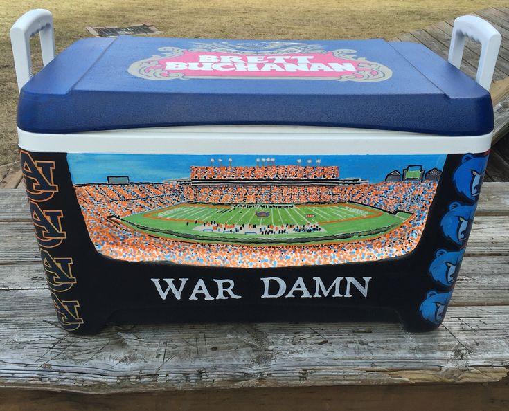 War Damn Eagle Auburn Stadium Fraternity Formal Cooler
