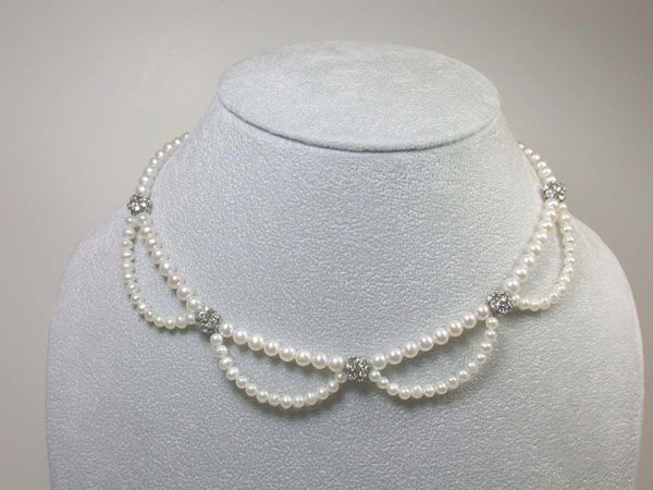 Shop — Catalog Products — Beauty Scalloped Freshwater Pearl Necklace | Designs By Claudias