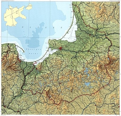 Map of East-Prussia