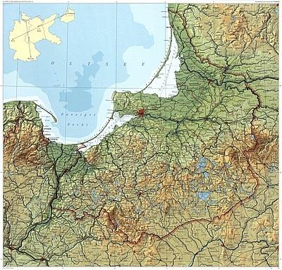 Ostpreußen, Landkarte