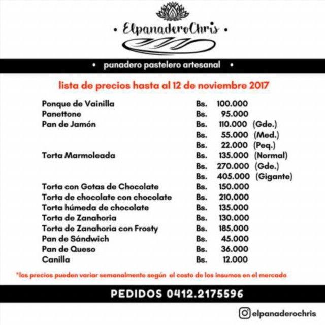 #Publicidad Disponible los productos de @elpanaderochris Pide los tuyos YA! realiza tus pedidos al 0412.2175596 #Pan #Panadería #Panadero #Artesanal #Caracas #Venezuela