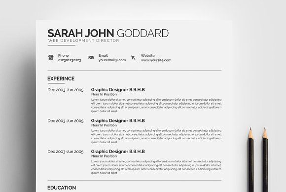 Creative Resume Templates  @creativework247