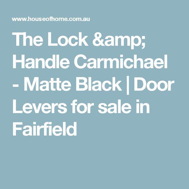 The Lock & Handle  Carmichael - Matte Black | Door Levers for sale in Fairfield