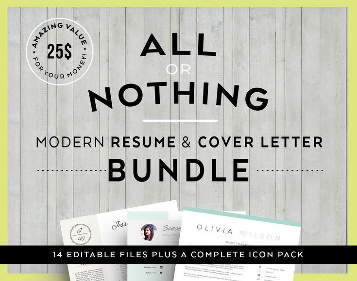 value offer bundle modern resume cover letter