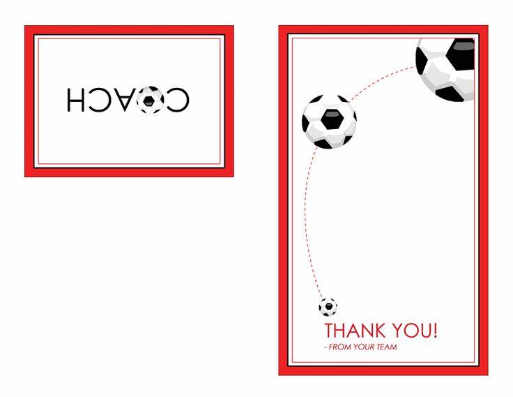 thank you card for soccer coach  quarter-fold