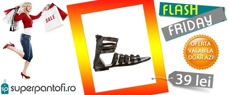 FLASH FRIDAY - http://www.superpantofi.ro/sandale-gladiator-black-881