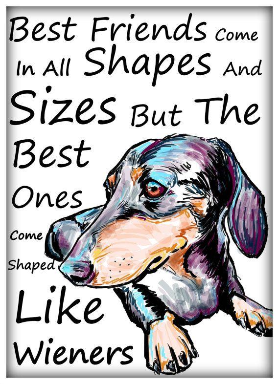 Best friends come shaped like wieners by Cartoon Your Memories