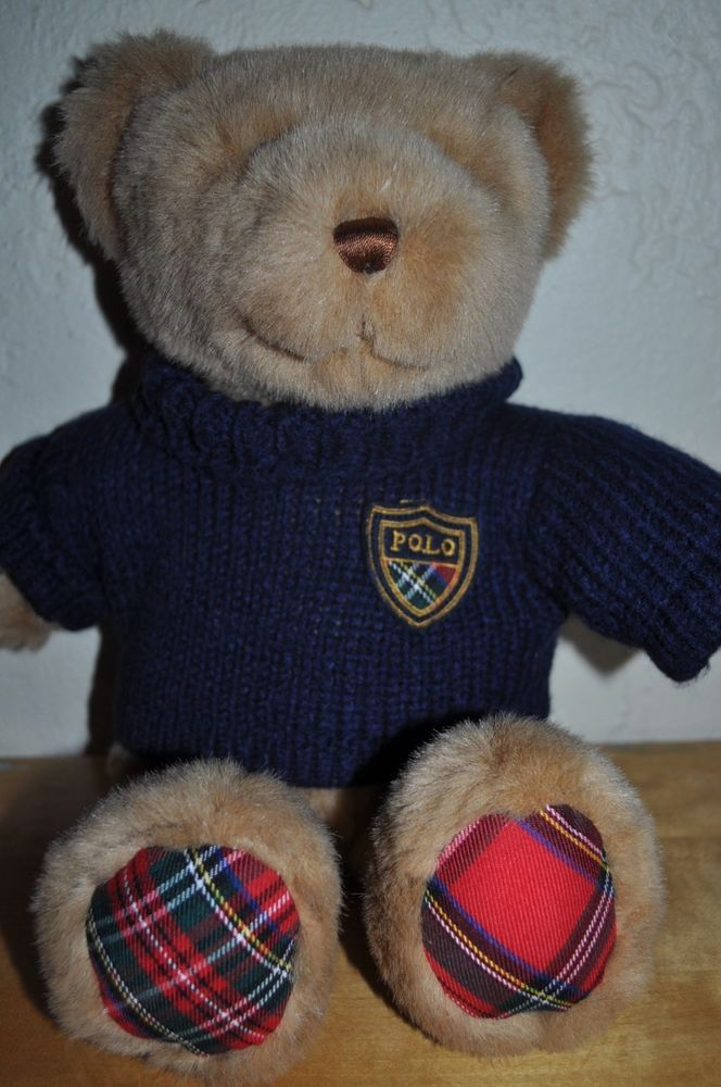 ralph lauren polo bear sweater big pony toy