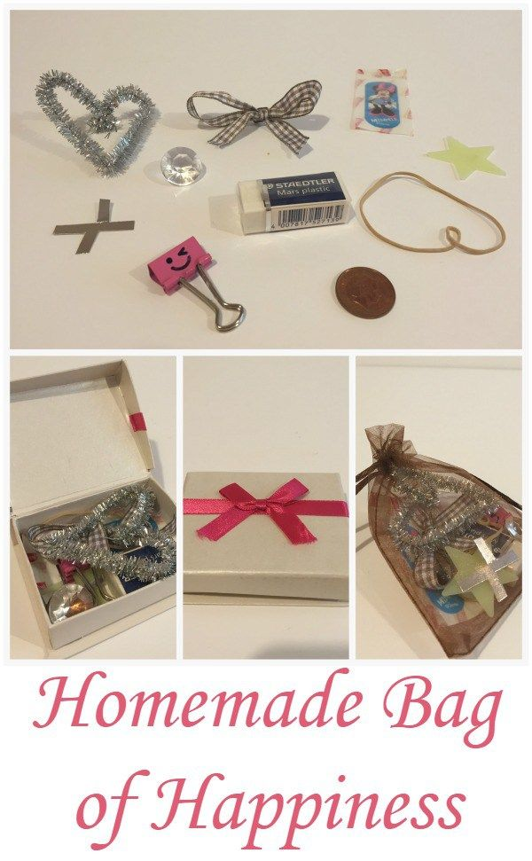 Homemade Bag of Happiness- lots of ideas for what to include and a free printable label!