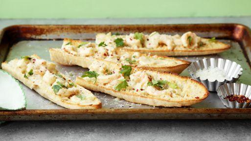 Shrimp Scampi Garlic Bread