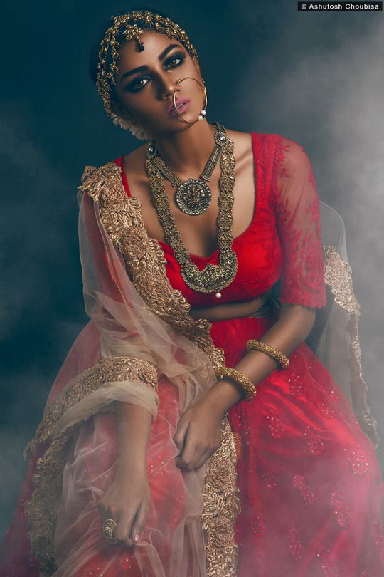 Beautiful Red Lace #Lehenga & #Blouse With Beige Dupatta.