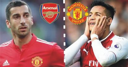 Arsenal forward Alexis Sanchez and Manchester United midfielder Henrikh Mkhitaryan were to undergo medicals on Sunday as their swap deal neared completion reports said.  Britains Mirror newspaper said Sanchez was due to arrive in Manchester with agent Fernando Felicevich with a medical scheduled for Sunday afternoon while Sky reported that Mkhitaryan would have a medical in London. The Mirror said the deals may not be officially completed until Monday as both Sanchez and Mkhitaryan are…