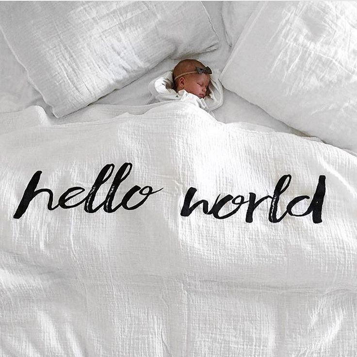 Hello World @willowstyleco NEW Hello World Muslin at spearmintLOVE.com