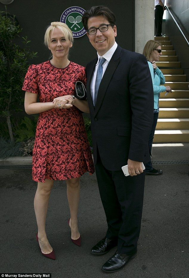 Date at the tennis: Michael McIntyre and his wife Kitty attend Day 8 of the Wimbledon tour...