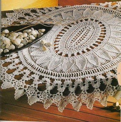 Crochet and arts: Oval doily