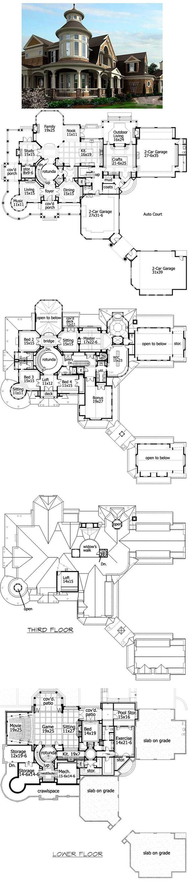 find this pin and more on home building ideas holy shit huge house floor plans - Large House Plans