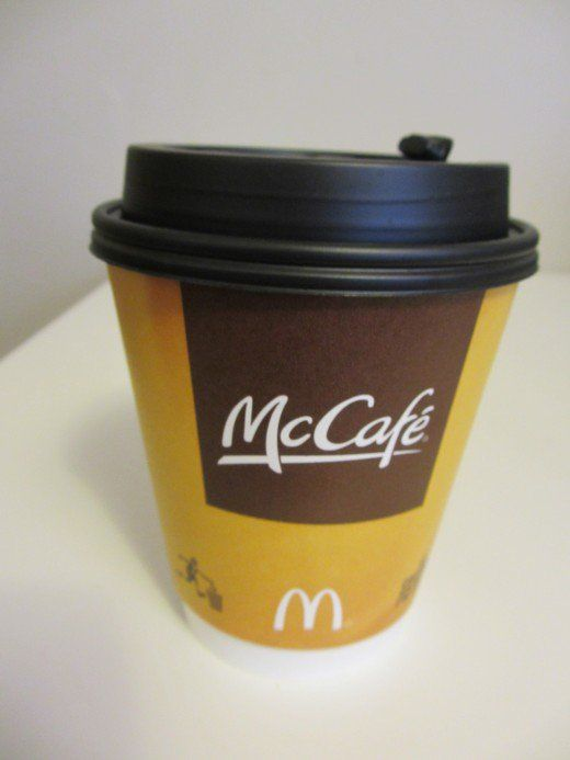 A small coffee from the McDonald's McCafe.