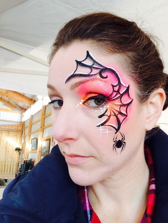 Spider web face paint: