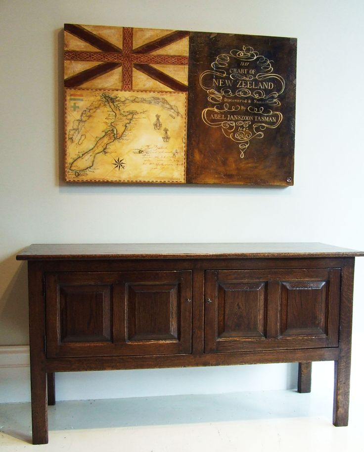 Chesterfield Hall Table - TV Cabinet - French Oak - French Polish Finish