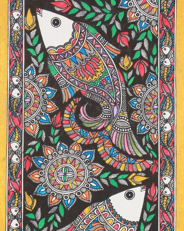 madhubani paintings designs - Google Search