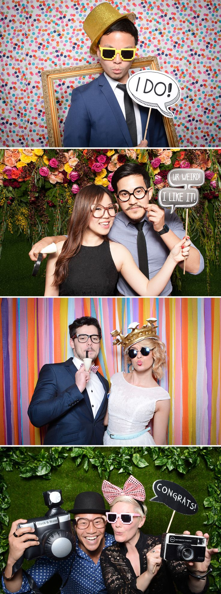 Fun photobooth props and backdrops from Sydney's Photo Corner