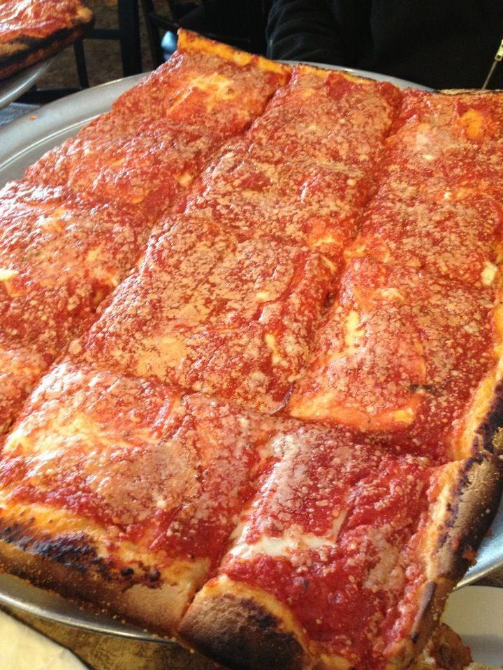 L B Spumoni Gardens Square Pizza Is A Contender For Best