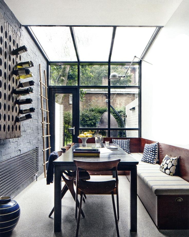 doors & glass roof.