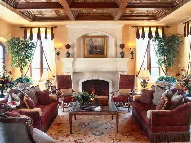 Old World Design Ideas Tuscan Living RoomsMediterranean