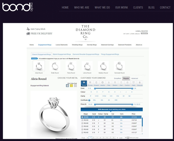 THE DIAMOND RING COMPANY ~ One of the biggest challenges was to simplify the Magento import of their supplier's data which consists of over 10,000 diamonds. A process which has to be done every Monday morning to ensure the site has the latest diamonds on the site. The current system was working but there was no easy way of managing this, it was over a complicated process which we had to simplify for them.
