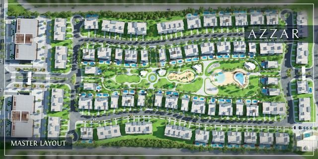 Master Plan Of Compound Azzar New Cairo City Egypt Call