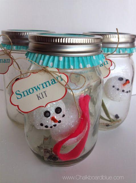 Snowman-in-a-Jar Craft Kit